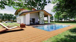 Cesena Villa in legno con piscina 2