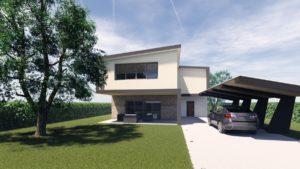 Castelfranco Villa in legno moderna 1
